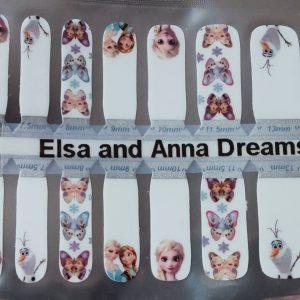 Bindy's Nails Elsa & Anna Nail Polish Wrap