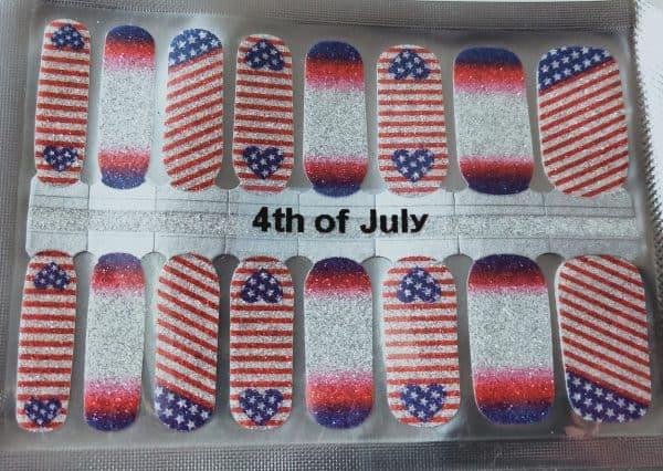 Bindy's Nails 4th of July Nail Polish Wrap