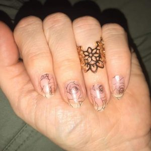 Bindy's Nails Becky's Rose Gold Roses
