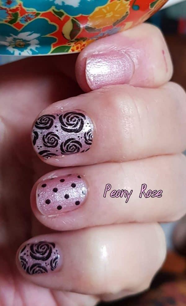 Bindy's Nails Peony Rose Nail Polish Wrap