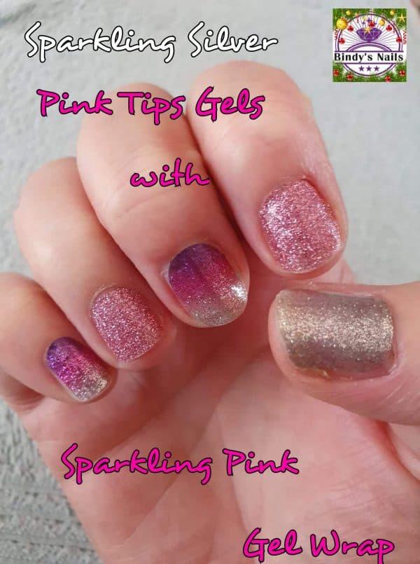 Bindy's Sparkling Pink Tips Gel Wrap