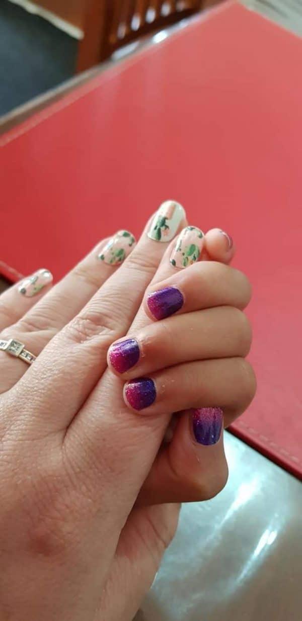 Bindy's Nails Plant Me A Cactus & Purple Reign