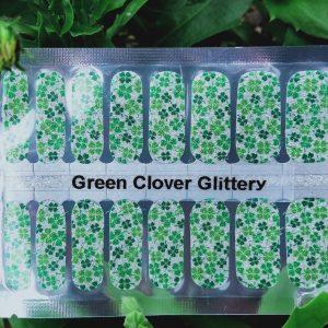 Bindy's Nails Green Clover Glittery