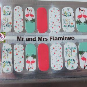 Bindy's Nails Mr & Mrs Flamingo Nail Polish Wrap