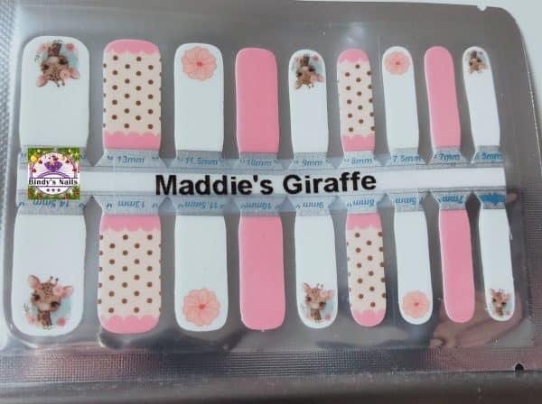 Bindy's Nails Maddie's Giraffe Nail Polish Wrap