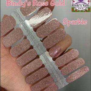 Bindy's Rose Gold Sparkle Nail Polish Wrap