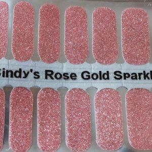 Bindy;s Rose Gold Sparkle Nail Polish Wrap