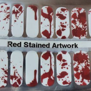 Bindy's Nails Red Stained Artwork