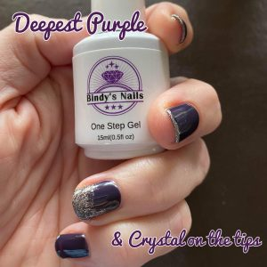 Bindy's One Step Gel Deepest Purple & Crystal