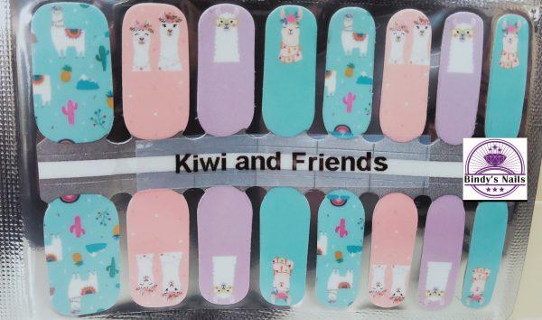 Kiwi & Friends Nail Polish Wrap