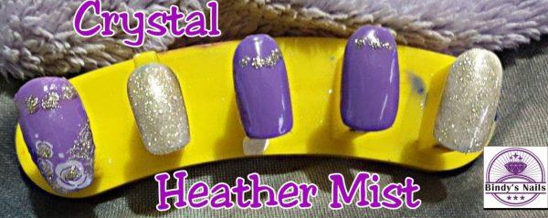 Bindy's Heather Mist UV Gel with Crystal One Step Gel