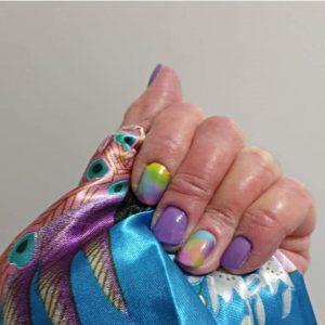 Bindy's Rainbow Splash with Heather Mist UV Gel