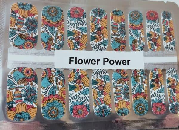 Bindy's Flower Power Nail Polish Wrap
