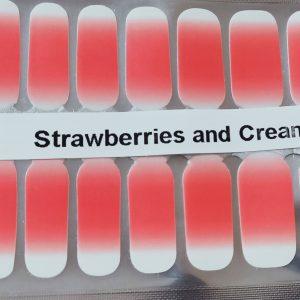 Bindy's Strawberries & Cream Nail Polish Wraps