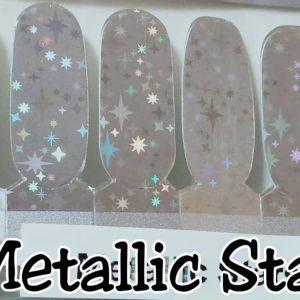 Bindy's Metallic Stars Nail Polish Wraps