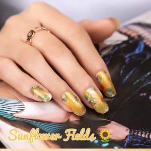 Bindy's Sunflower Fields Nail Polish Wrap
