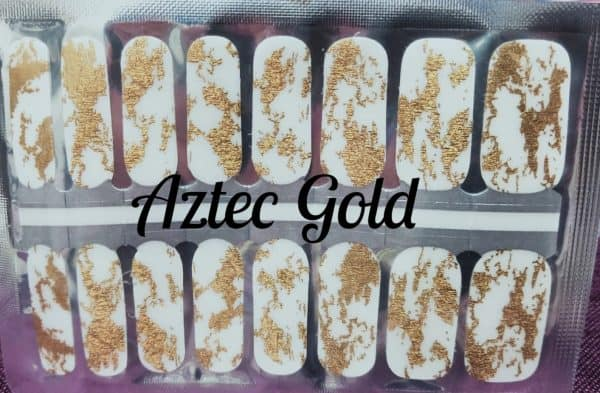 Bindy's Aztec Gold Nail Polish Wrap