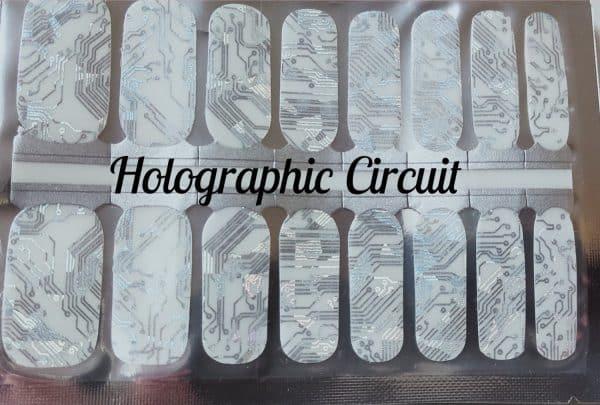 Bindy's Nails Holographic Circuit Nail Polish Wrap