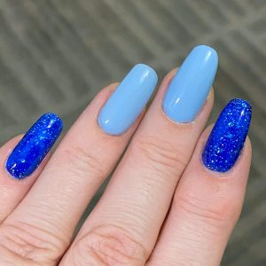 Bindy's Twilight Sky UV Gel and Electric Blue One Step Gel