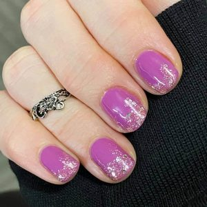 Bindy's Mulberry 3 Step UV Gel with Blush at the tips