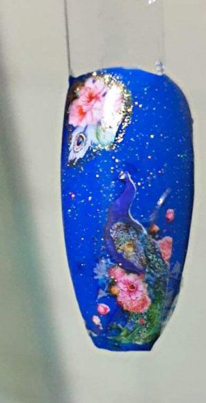Bindy's Nail Art with Mermaid Blues Gel