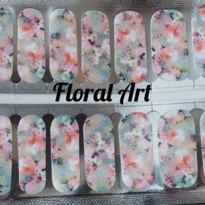 Bindy's Floral Art Nail Polish Wrap
