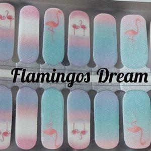 Bindy's Flamingos Dream Nail Polish Wrap