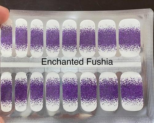Bindy's Enchanted Fushia Nail Polish Wrap