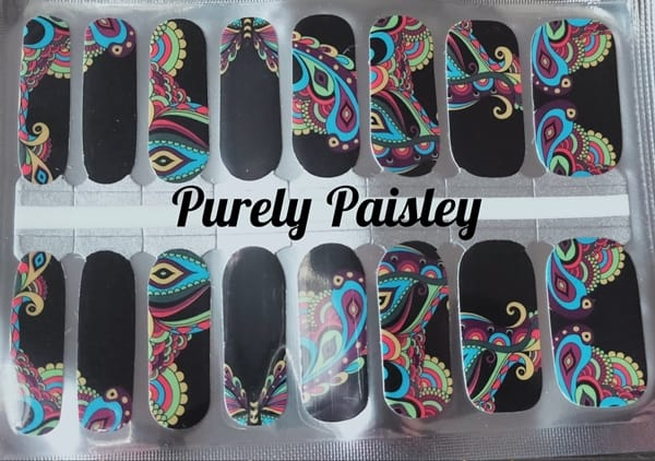 Bindy's Purely Paisley Nail Polish Wrap