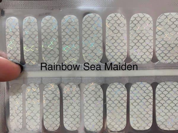 Bindy's Rainbow Sea Maiden Nail Polish Wrap