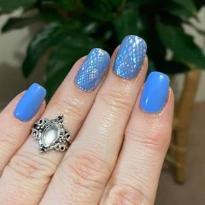 Bindy's True Blue Three Step Gel with Serpent Charmer as a accent