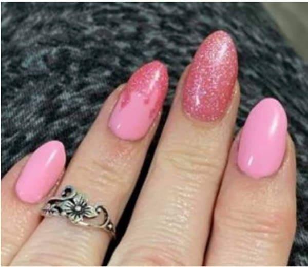 Bindy's Vivid Pink Glitter with Angelic Three Step Gel