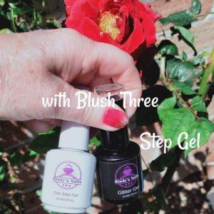 Bindy's Iris with Blush Three Step Gel on the tips