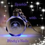Sparkle with Bindys' Nails Keyring