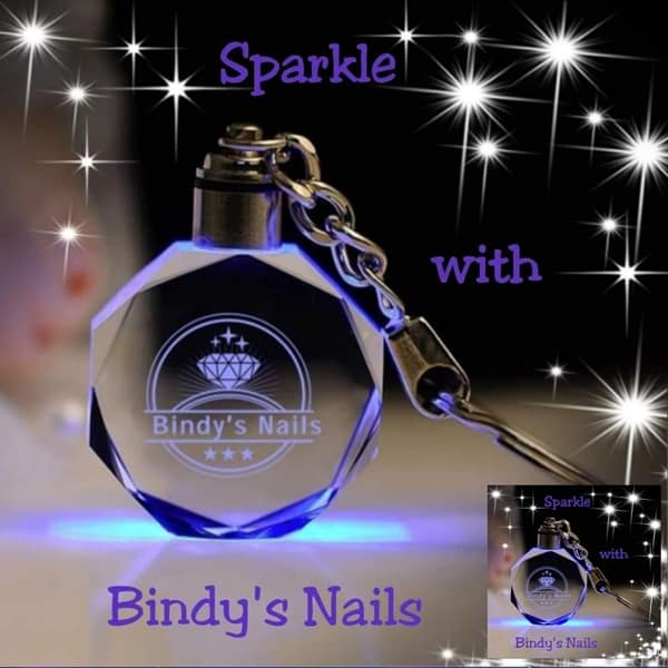 Sparkle with Bindy's Nails Keyring