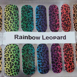 Bindy's Rainbow Leopard Nail Polish Wrap