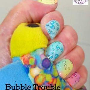 Bindy's Bubble Trouble Nail Polish Wrap