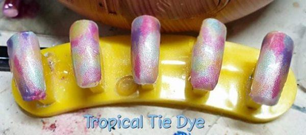 Bindy's Tropical Tie Tye Nail Polish Wrap