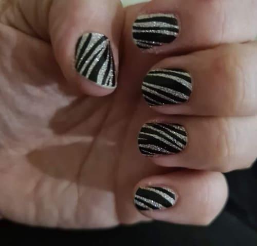 Bindy's Sparking Zebra Nail Polish Wrap