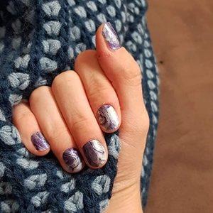Bindy's Purple Haze Nail Polish Wrap