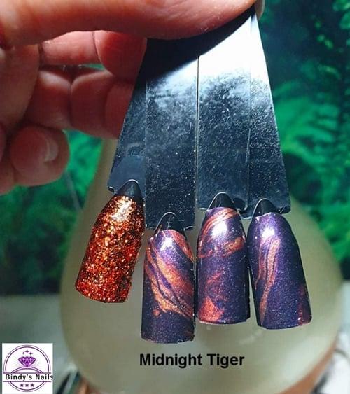 Bindy's Midnight Tiger Nail Polish Wrap