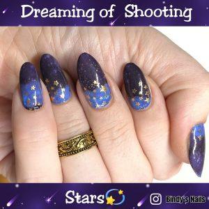 Bindy's Dreaming of Shooting Stars Nail Polish Wrap