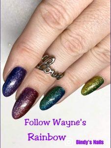 Bindy's Follow Wayne's Rainbow Nail Polish Wrap