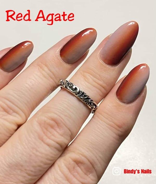 Bindy's Red Agate Nail Polish Wrap