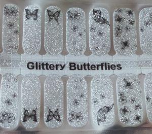 Bindy's Glittery Butterflies Nail Polish Wrap