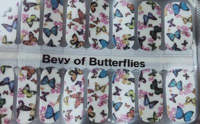 Bindy's Bevy of Butterflies Nail Polish Wrap
