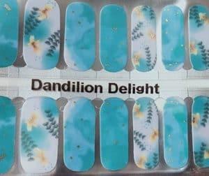 Bindy's Dandilion Delight Nail Polish Wrap