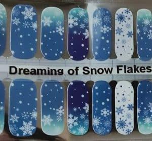 Bindy's Dreaming of Snowflakes Nail Polish Wrap