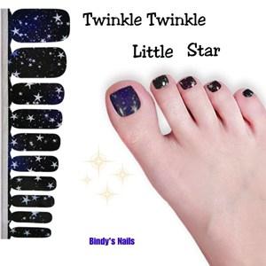 Bindy's Twinkle Twinkle Little Star Nail Pedicure Polish Wrap