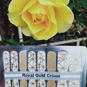 Bindy's Nail Polish Wrap Royal Gold Crown